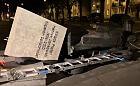 W nocy przewrócono pomnik ks. Jankowskiego