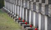 Kwiaty i znicze na grobach gdańskich Polaków