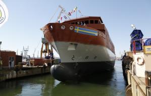 Wodowanie okrętu dla szwedzkiej marynarki wojennej