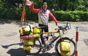 Kanadyjski podróżnik rowerowy z wizytą w Trójmieście