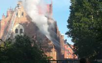 Pożar dachu kościoła Piotra i Pawła na...