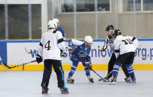 "Zagraj w hokeja na rolkach. Mata zamiast tafli w hali ""Olivia"""