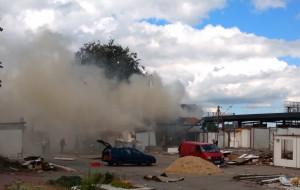 Pożar na byłym Targowisku Chylonia