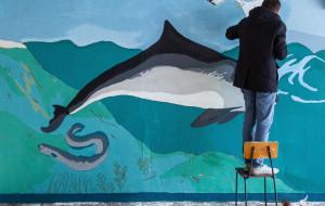 Morskie murale przy Uniwersytecie Gdańskim