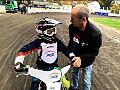 Patryk Dudek i Kacper Gomólski na Speedway Camp Zenona Plecha dla żużlowców