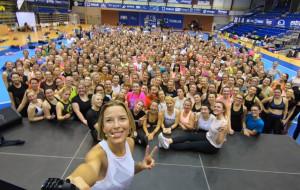Ewa Chodakowska w hali AWFiS. Zobacz trening ponad 300 osób