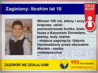 Uprowadzono 10-letniego chłopca z Gdyni. Uruchomiono Child Alert