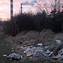 Dane w śmieciach porzuconych na Obłużu