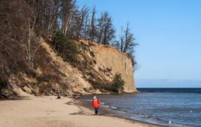Łagodna zima szkodliwa dla klifu w Gdyni
