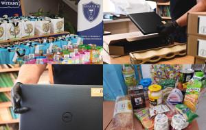 Pomoc dla rodzin. Paczki z żywnością ze szkoły i sprzęt dla uczniów