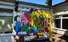 Mural dzieci trafił na ścianę przedszkola