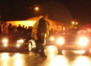 Nielegalne wyścigi samochodowe na Zaspie