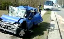 Wypadek czterech pojazdów na ul. Słowackiego