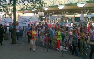 Kupcy protestowali w Gdyni