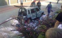 Spłonął samochód na Zielonym Wzgórzu