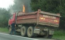 Na obwodnicy zapaliła się ciężarówka