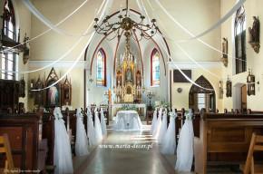 Zimowa promocja na dekorację ślubną kościoła!