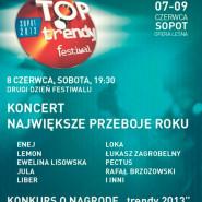"Festiwal TOPtrendy 2013: Koncert Przebój Roku ""Trendy"""