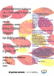 Wiersze Na Dobrą Wróżbęspotkanie Z Poezją Anny Grabiec