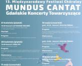 Mundus Cantat - Gdańskie Koncerty Towarzyszące