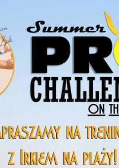 Summer pro challenge on the beach