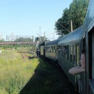 Klif - pociągiem z parowozem wokół Gdyni