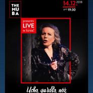 Teatr z wizytą w Heliosie! Transmisja monodramu Krystyny Jandy: ,,Ucho, gardło, nóż''