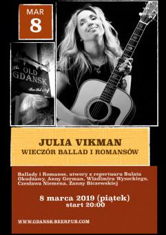 Wieczór Ballad i Romansów z okazji Dnia Kobiet. Julia Vikman.