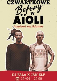 Czwartkowe befory w AïOLI - DJ Fala & Jan Elf