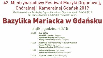 Bilety na 42. Międzynarodowy Festiwal Muzyki Organowej, Chóralnej i Kameralnej