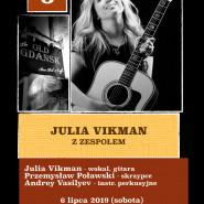 Julia Vikman z zespołem. Old Gdansk. Live, Concert.