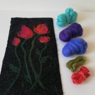 Filcowanie na tkaninie