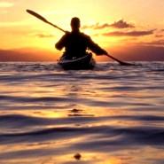 Spływ Piaśnicą do morza, na zachód słońca (pierwszy w tym roku)