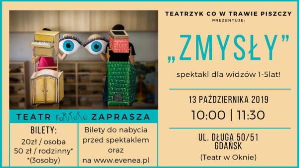 Zmysły Spektakl Dla Najnajów 1 5 Lat Teatr Korkoro Gdańsk