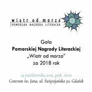 """Gala Pomorskiej Nagrody Literackiej """"Wiatr od Morza"""" za rok 2018"""