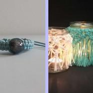 Makrama - lampion lub bransoletka
