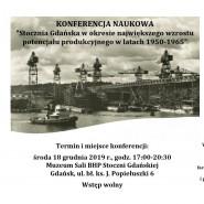 """Konferencja naukowa """"Stocznia Gdańska w latach 1950-1965"""""""