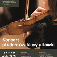 Koncert studentów klasy altówki aMuz