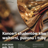 Koncert studentów klas waltorni, puzonu i tuby