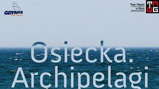 """Zaproszenie na spektakl """"Osiecka. Archipelagi"""""""