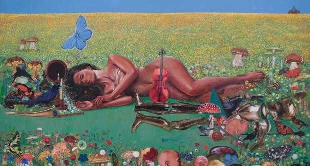 Pełne sugestywnych symboli obrazy i rysunki Macieja Świeszewskiego można podziwiać w gdyńskiej galeri Od czasu do czasu.