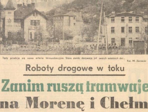 """35 lat temu rozpoczęły się prace przy budowie linii tramwajowej na Morenę. Fakt ten upamiętnia dawny artykuł w """"Dzienniku Bałtyckim"""", który zamieściła w swojej kronice Spółdzielnia Mieszkaniowa Morena."""