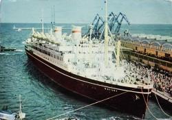 Na pokładzie transatlantyka Batory nikt nie zainteresował się kajakiem, którym do Szwecji płynęli Jerzy Martula i Stanisław Rankin.