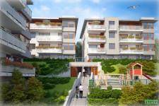 Inwestycja JW Construction w Gdyni to pięć budynków wokół wspólnego dziedzińca.