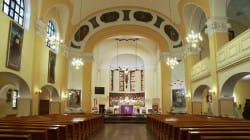 Obecny wystrój kościoła pod wezwaniem św. Andrzeja Boboli.
