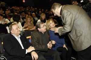 W poniedziałek w Gdyni gościli twórcy filmu. Od lewej odtwórcy głównych ról: Kazimierz Kaczor i Janusz Gajos oraz reżyser Ryszard Bugajski.