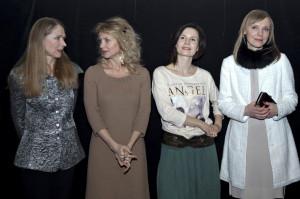 Odtwórczynie ról kobiecych: od lewej Maria Mamona, Beata Ścibakówna, Magdalena Kumorek, Monika Kwiatkowska.