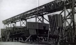 Budowa Sołdka w 1948 roku w Stoczni Gdańskiej.