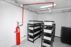 Ochronę przeciwpożarową w archiwum zapewniać będzie system wykorzystujący gaz. W budynku znajdzie się 15 takich butli o wadze 200 kg.
