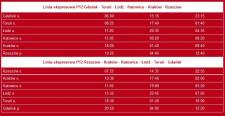 Rozkład jazdy na nowej linii P12 Gdańsk - Rzeszów.